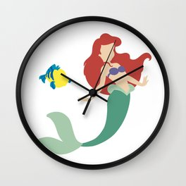 Ariel and Flounder Wall Clock