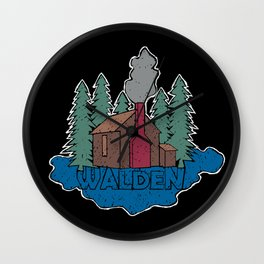 Walden - Henry David Thoreau (Coloured textured version) #society6 #decor #buyart Wall Clock