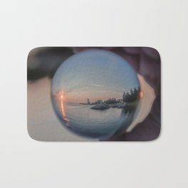 Annisquam sunset though a Crystal Ball Bath Mat