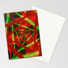 Red and Green Spiral Stationery Cards