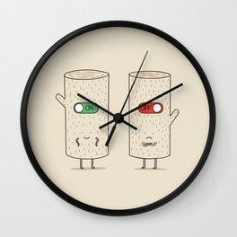 log on and log off Wall Clock