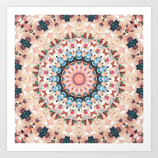 Textural Circles of Color Art Print