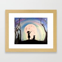 Wishing upon a star Framed Art Print