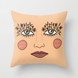 Love Who You Are Throw Pillow