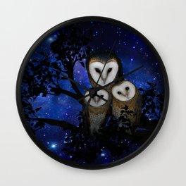 Owl Family Wall Clock