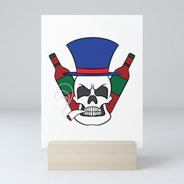 Fierce and creative skull tee design. Makes a nice and unique gift to your loved ones too!  Mini Art Print