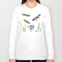 swim Long Sleeve T-shirts featuring Swim Koala, Swim by Ink Robin