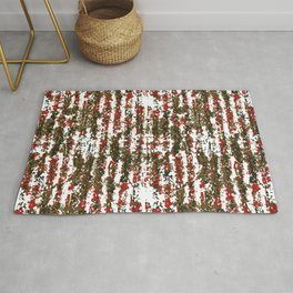 Grunge Textured Abstract Pattern Rug