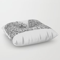 Busy City VII Floor Pillow