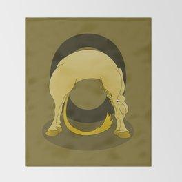 Pony Monogram Letter O Throw Blanket