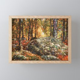 Frederick Childe Hassam - The Jewel Box, Old Lyme - Digital Remastered Edition Framed Mini Art Print