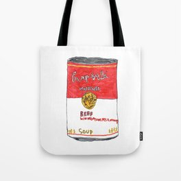Can of Beef Soup  Tote Bag