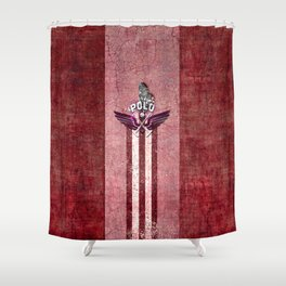poloplayer red Shower Curtain