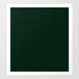 Textured dark green, solid green, dark green. Art Print