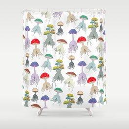 Magic Mushroom Roots Butts Shower Curtain