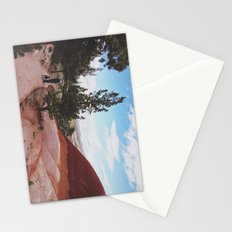 Man and His Dog at Painted Hills  Stationery Cards