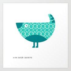 KOKORA (blue) Art Print