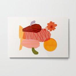 Abstraction_Cactus_&_Sun Metal Print