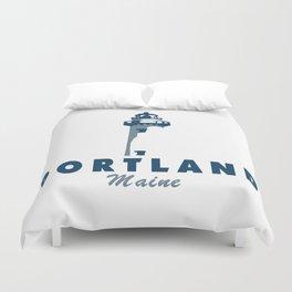 Portland Maine. Duvet Cover
