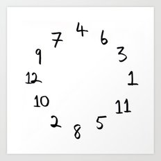 terrible clock Art Print