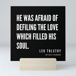 44  | Leo Tolstoy Quotes | 190608 Mini Art Print