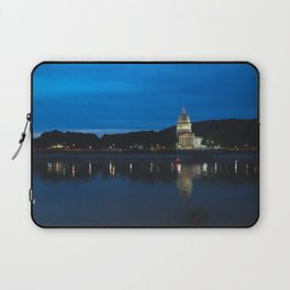 Charleston West Virginia Capitol at Blue Hour Laptop Sleeve