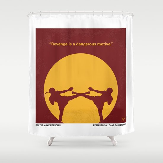 No178 My Kickboxer minimal movie poster Shower Curtain