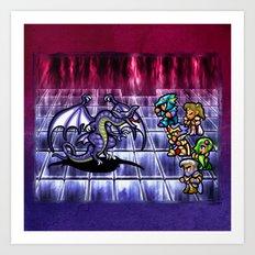 Final Fantasy Bahamut Battle Art Print