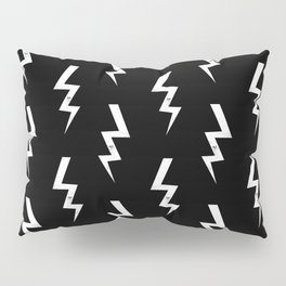 Bolts lightening bolt pattern black and white minimal cute patterned gifts Pillow Sham