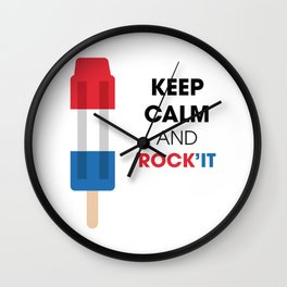 Keep calm and rock'it Wall Clock