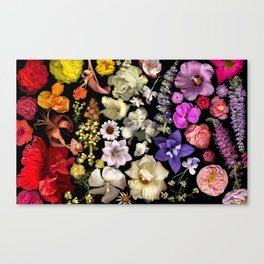 Floral Rainbow Canvas Print
