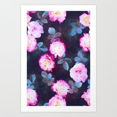 Twilight Roses Art Print