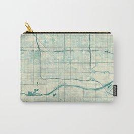 Phoenix Map Blue Vintage Carry-All Pouch