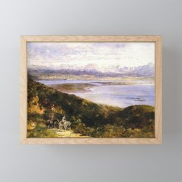 San Diego Bay From Point Loma 1907 By Thomas Hill   Reproduction Framed Mini Art Print