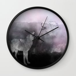 Wolf Mate for Life Wall Clock