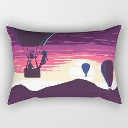 Balloon Rider at Sunset Rectangular Pillow