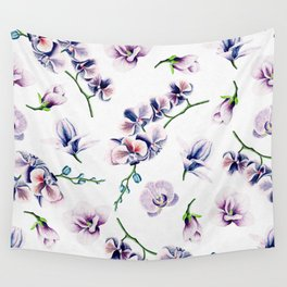 Lavender Blossom Floral Pattern Wall Tapestry