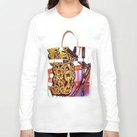 graffiti Long Sleeve T-shirts featuring Graffiti by LuxuryLivingNYC