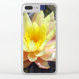 Yellow Water Lily Clear iPhone Case