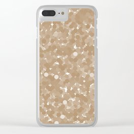 Iced Coffee Polka Dot Bubbles Clear iPhone Case