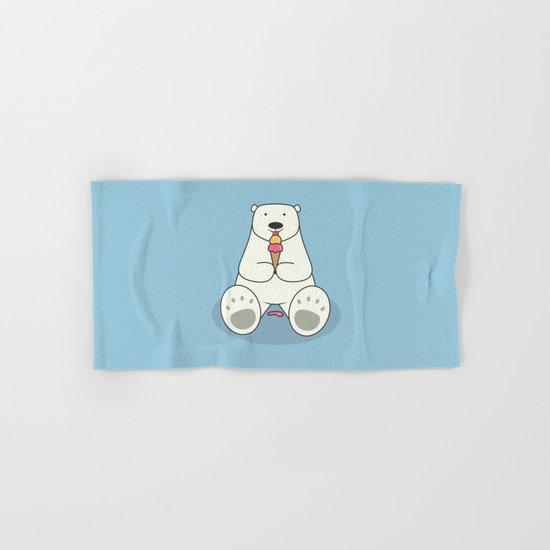 Ice Cream Lover Bear Hand & Bath Towel