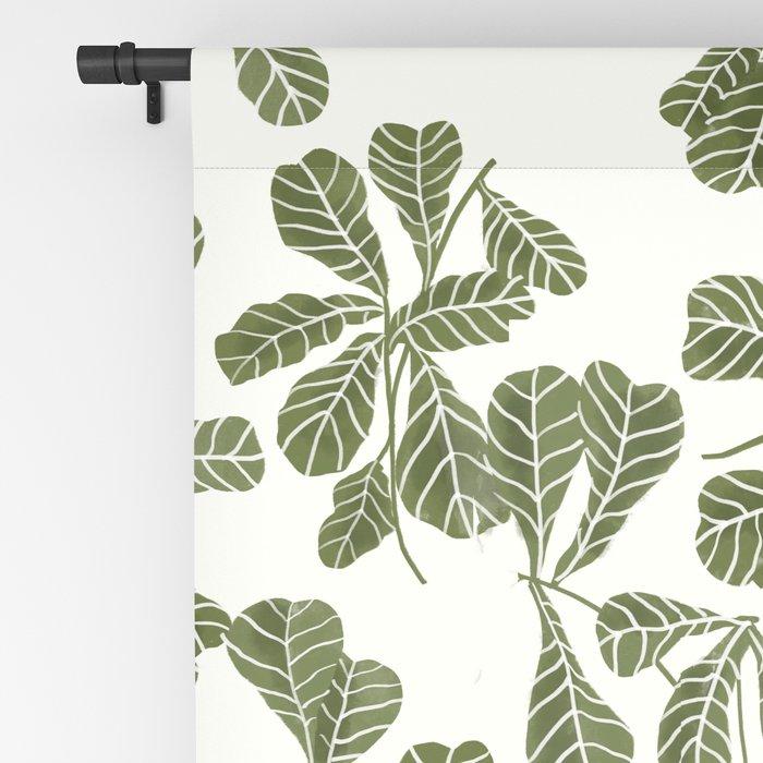 Fig Leaf Pattern Blackout Curtain