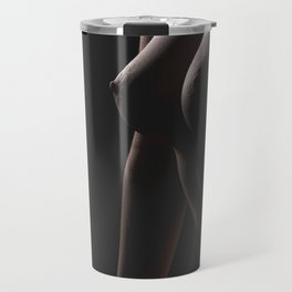 Nude body of the beautiful young woman. Travel Mug