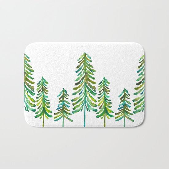 Pine Trees – Green Palette Bath Mat