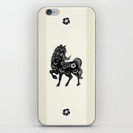 Horse Paper Cut iPhone Skin