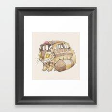 Magical Bus Ride Framed Art Print