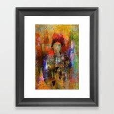 Woman samurai Framed Art Print