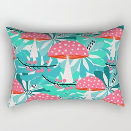 Cheerful mushrooms and flowers Rectangular Pillow