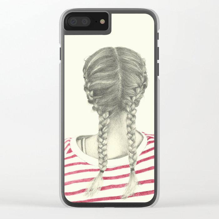 French braids 02 Clear iPhone Case