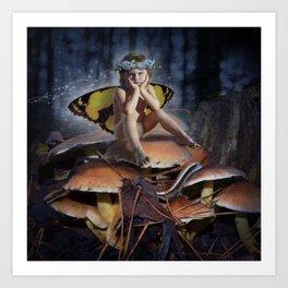 Mad Mushroom Fairy Art Print